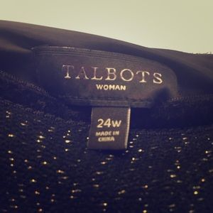 Talbots Black Wool Skirt Size 24W